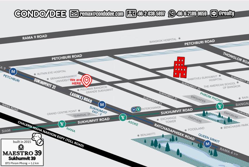 Maestro 39 Sukhumvit 39 condo - map