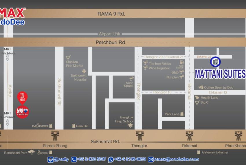 Mattani Suites Apartment Ekkamai - map