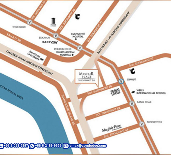 Mayfair Place Sukhumvit 50 condo - map