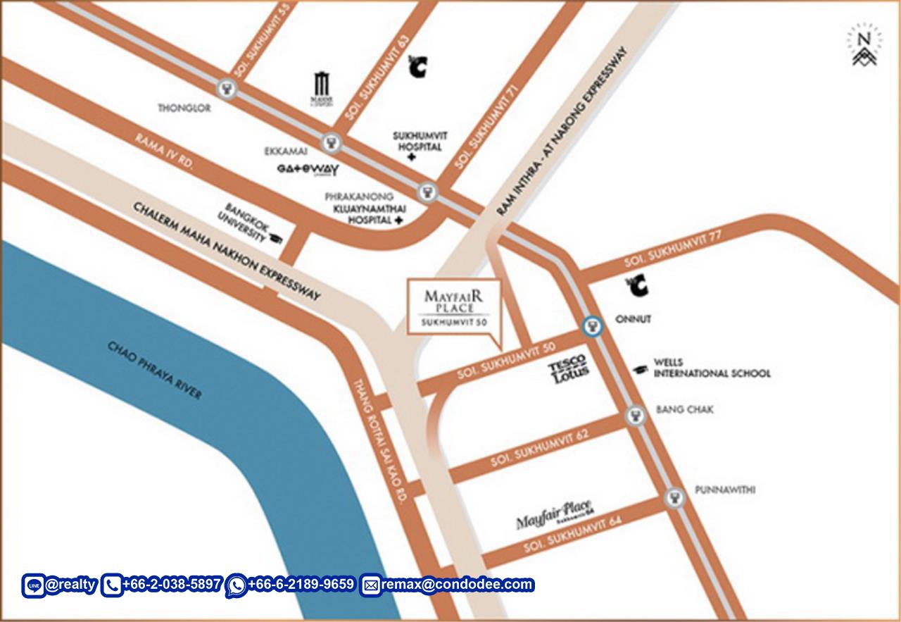 Mayfair Place Sukhumvit 50 Condominium Near BTS On Nut