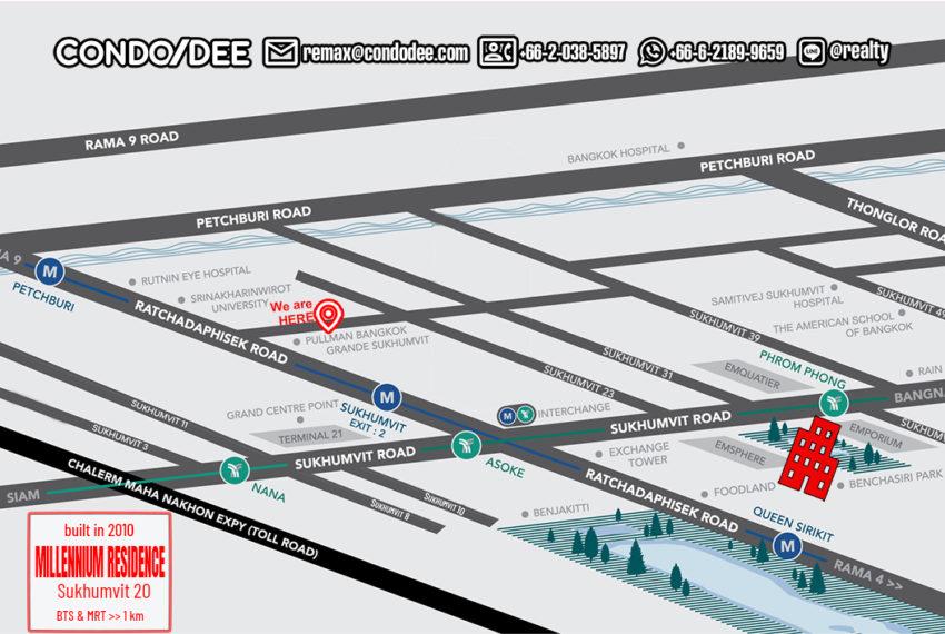 Millennium Residence condo - map