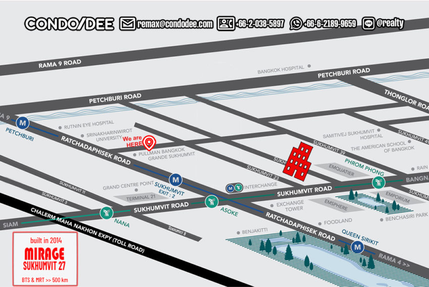 Mirage Sukhumvit 27 condo - map