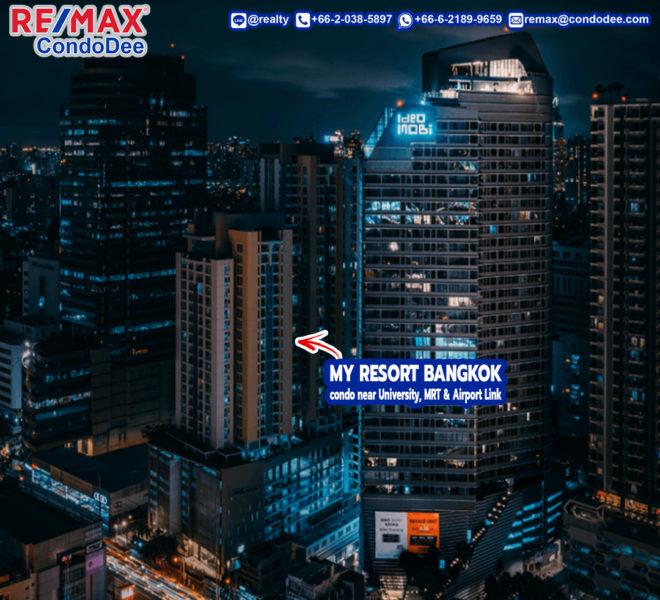 My Resort Bangkok Condominium in Asoke Near University, MRT and Airport Rail Link