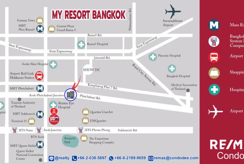 My Resort Bangkok Condo - map
