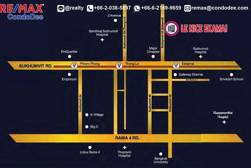 NLe Nice Ekamai - map