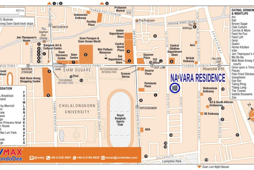 Na Vara Residence - map