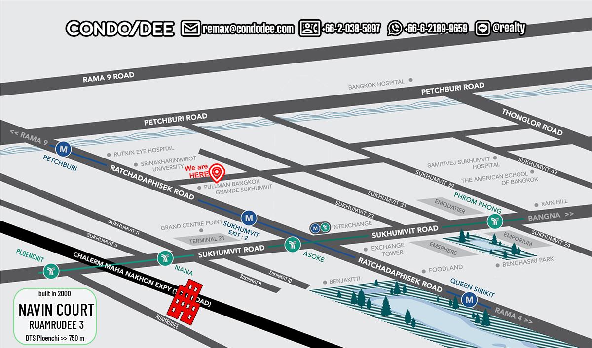 Navin Court - Low-Rise Bangkok Condominium in Ruamrudee Near BTS Ploenchit