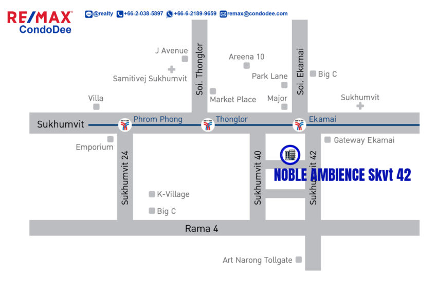 Noble Ambience Sukhumvit 42 - map