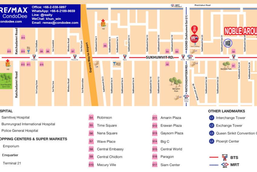Noble Around Sukhumvit 33 - map