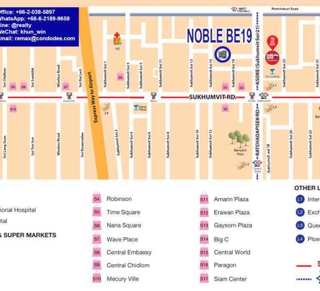 Noble Be19 condo - map