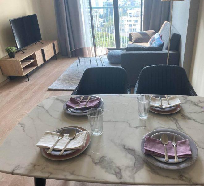 New 2-bedroom flat for rent - low floor - near Asoke BTS - Noble Recole condominium