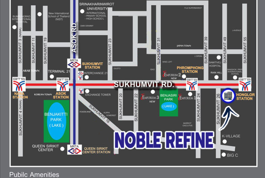 Noble Refine Sukhumvit 26 condo - map