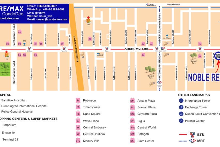 Noble Refine Sukhumvit 26 - map