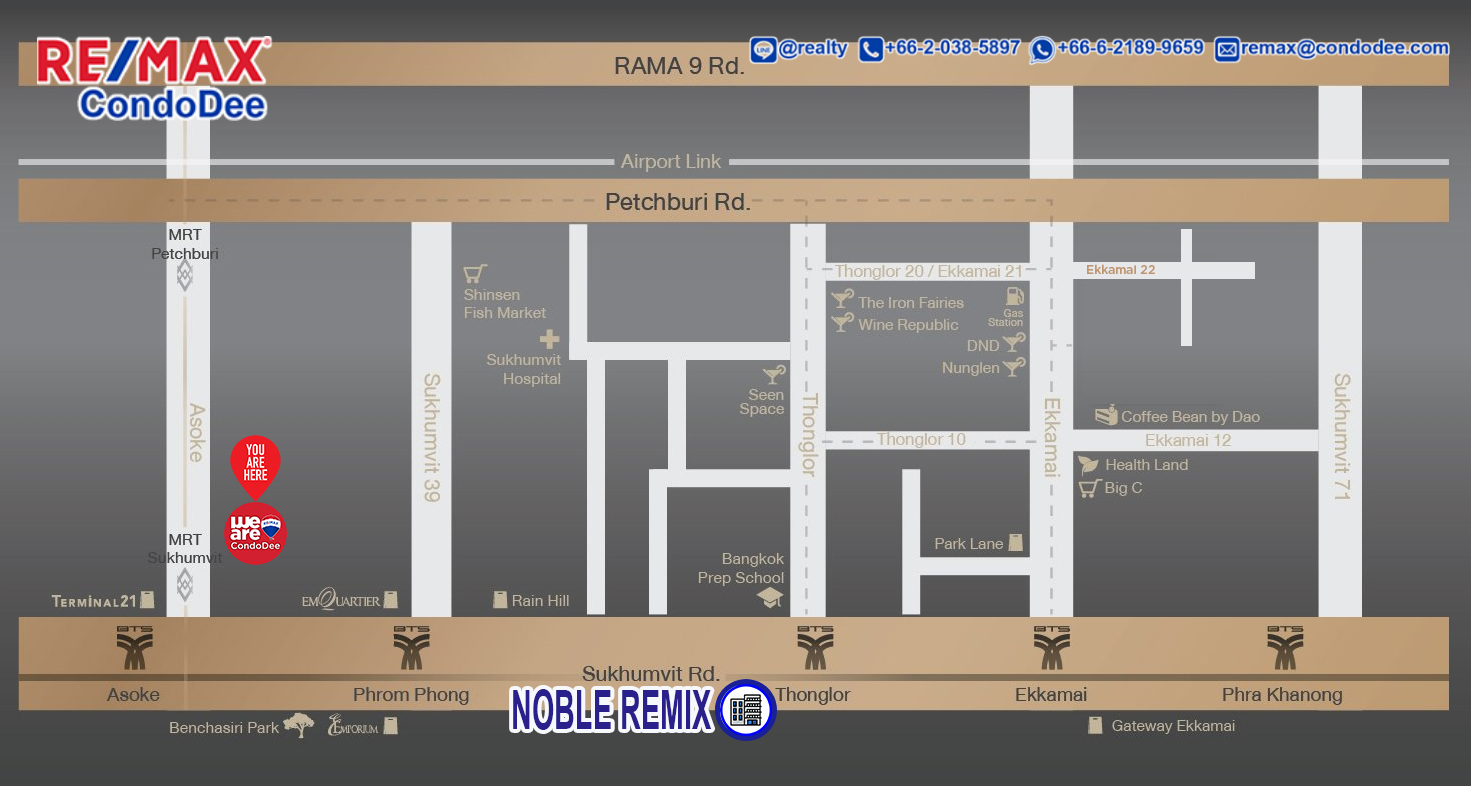 Noble Remix Condominium With Direct Access To BTS Thonglor