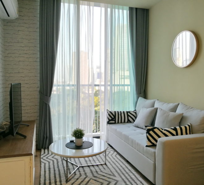 New flat for rent near Asoke BTS - 1 bedroom - low-floor - Noble Recole