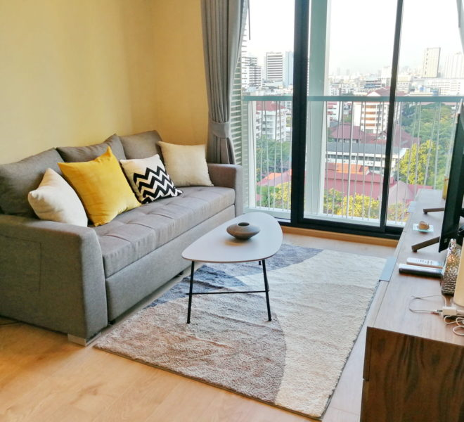 New apartment for rent near Asoke BTS - 2 bedroom - mid-floor - Noble Recole