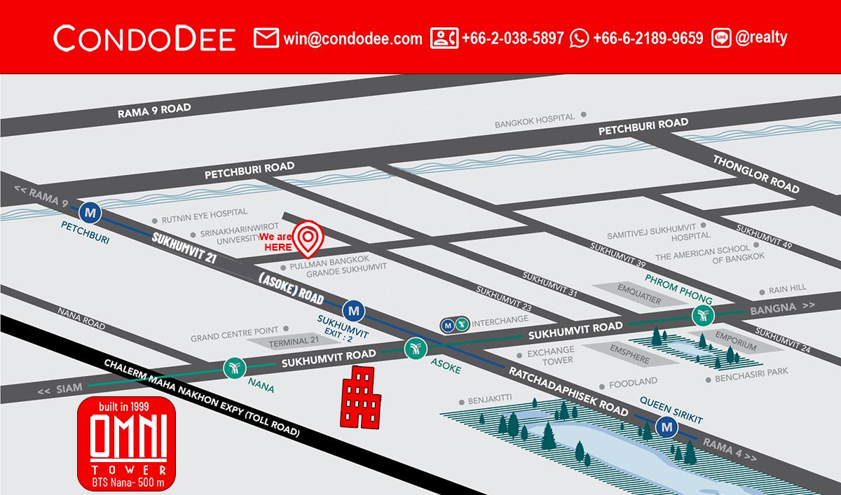 Omni Tower Sukhumvit Nana Condominium
