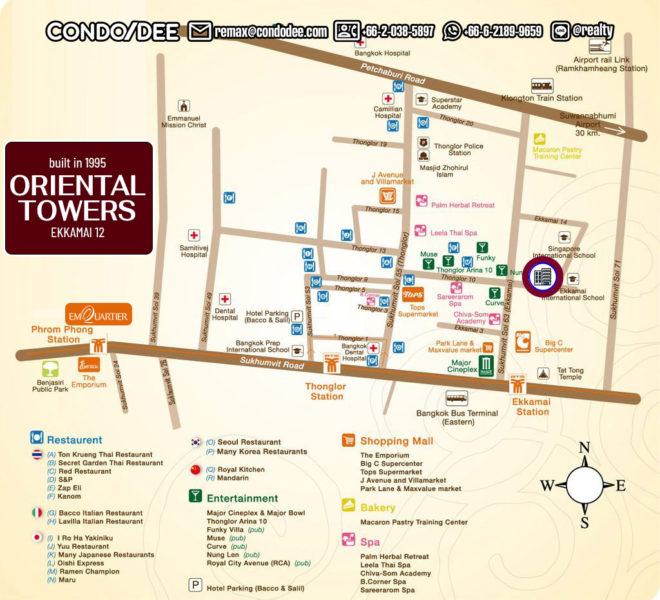 Oriental Towers - map