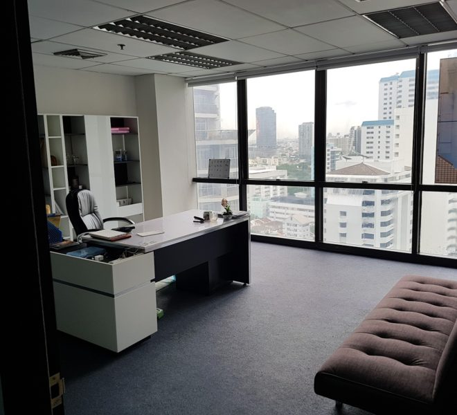 Office in Asoke for Sale with tenant in PS Tower Office Building