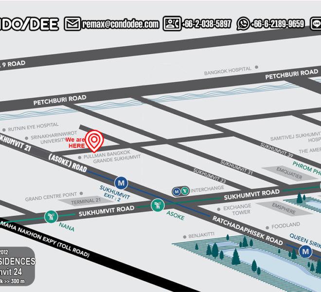 Pearl Residences Sukhumvit 24 - map