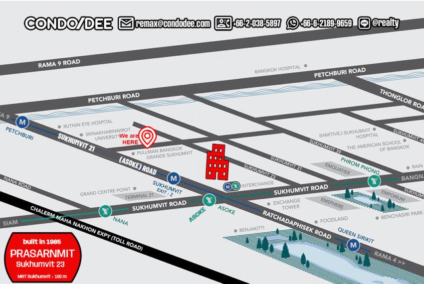 Prasanmit Condominium - map