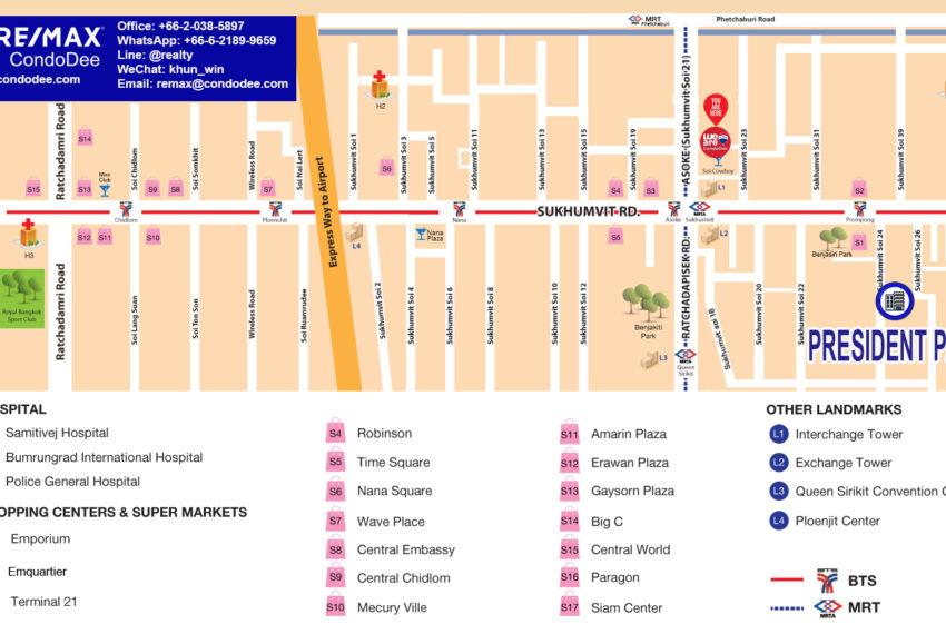 President Park Sukhumvit 24 condo - map