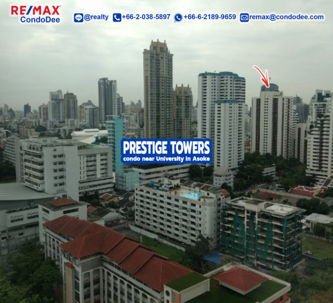 Prestige Towers Sukhumvit 23 condo in Asoke near University