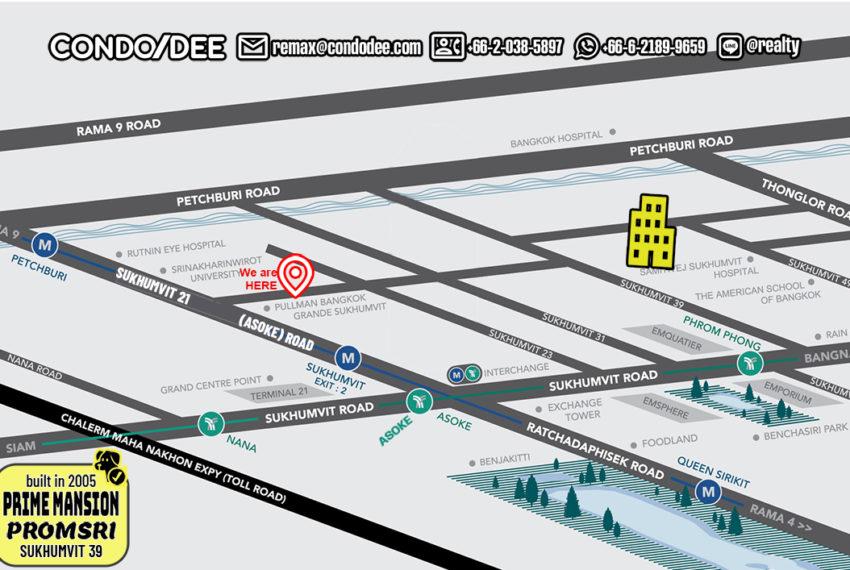 Prime Mansion Promsri condo - map