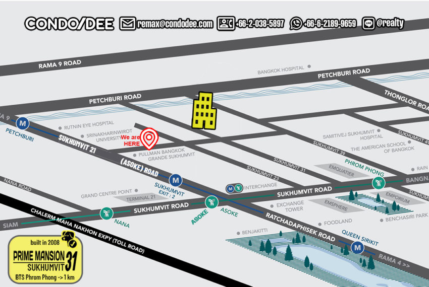 Prime Mansion Sukhumvit 31 - map