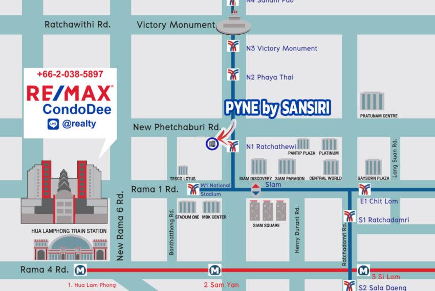 Pyne by Sansiri condominium - map