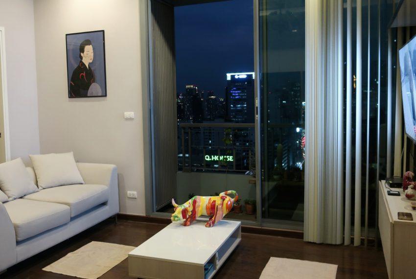 Q Asoke - 2 beds 1 bath -For Sale- Living room
