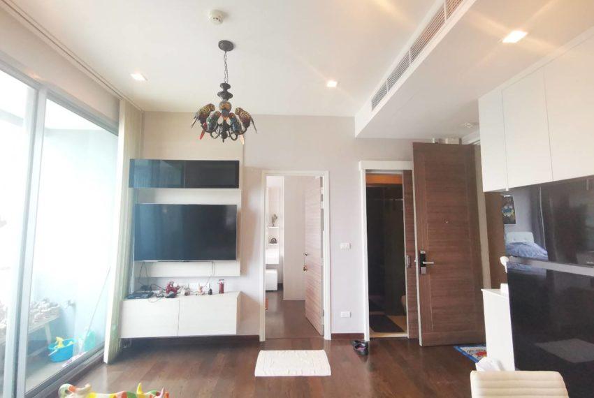 Q Asoke - 2 beds 1 bath -For Sale - Living room