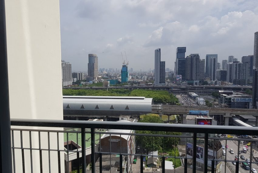 Q Asoke condo for sale 2-bed 2-bath view from balcony