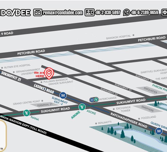 Q Asoke condominium - map