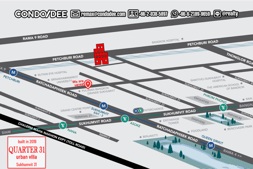 Quarter 31 townhouses - map