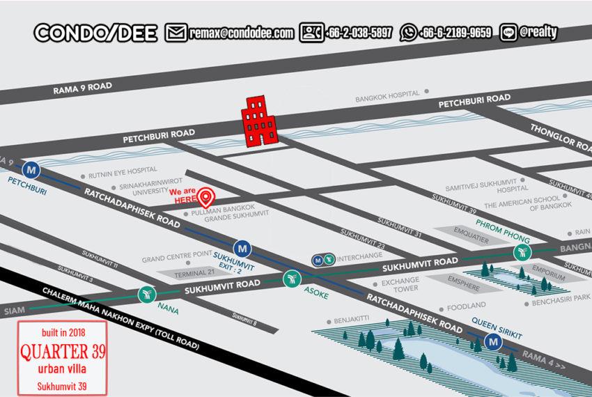 Quarter 39 townhouses - map