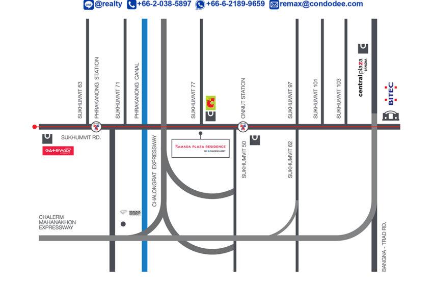 Ramada Plaza Residences Sukhumvit 48 - map