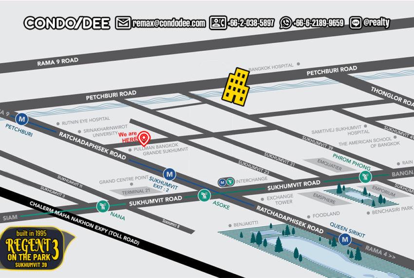 Regent on The Park 3 Sukhumvit 39 - map