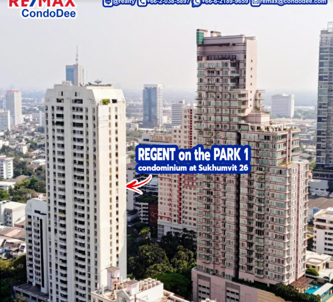 Regent on the Park 1 Condominium at Sukhumvit 26 Near Phrom Phong BTS