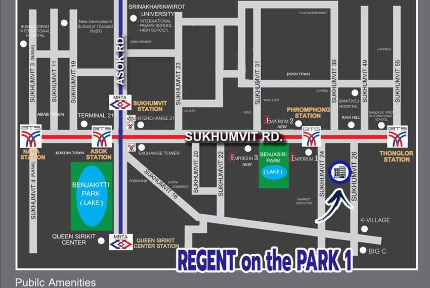 Regent on the Park 1 Sukhumvit 26 condo - map