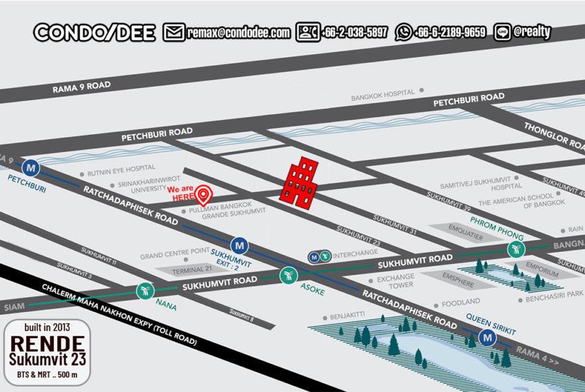 Rende Sukhumvit 23 condo - map