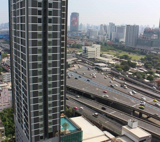 Rhuthm Asoke - 1-bedroom-Rent-high-floor-city-view