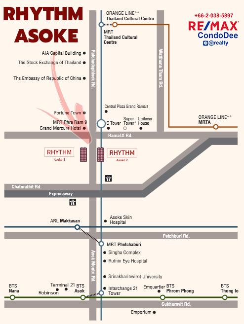 Rhythm Asoke Condo Near Rama 9 MRT