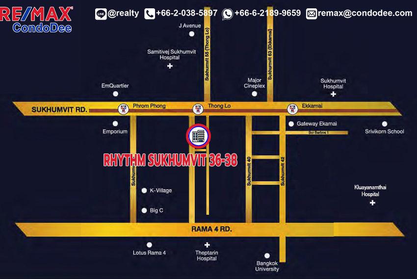 Rhythm Sukhumvit 36-38 condo - map