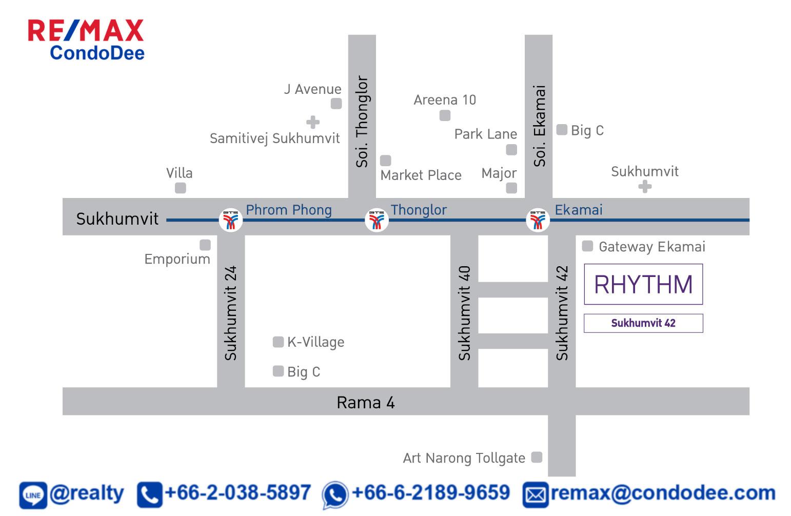 Rhythm Sukhumvit 42 Condominium Near BTS Ekkamai