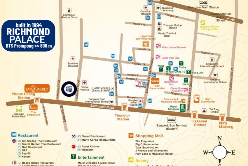 Richmond Palace - map