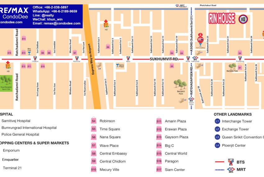 Rin House condo - map