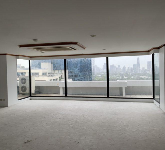 Very Large Apartment Sale Asoke - Large Balcony - Bare-Shell - Lake Avenue Condominium