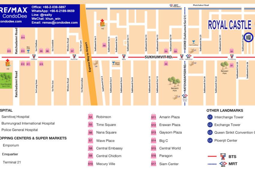 Royal Castle Sukhumvit 39 condominium - map