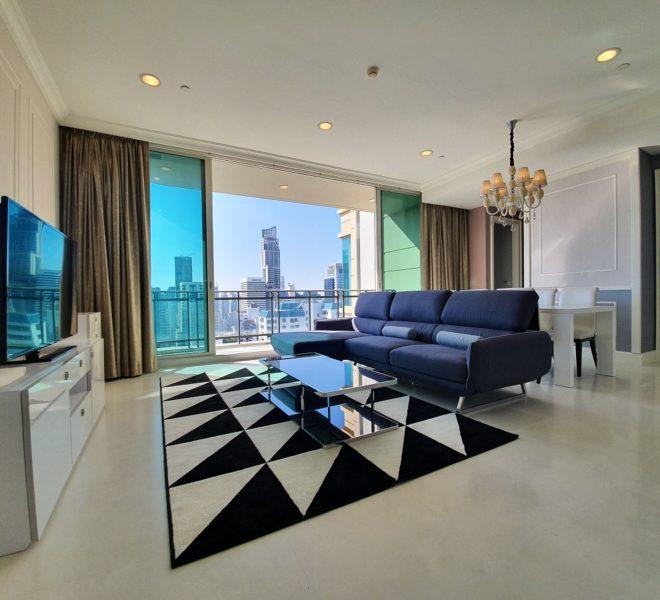 Luxury flat for rent in Asoke - 3 bedroom - high floor - Royce Private Residences